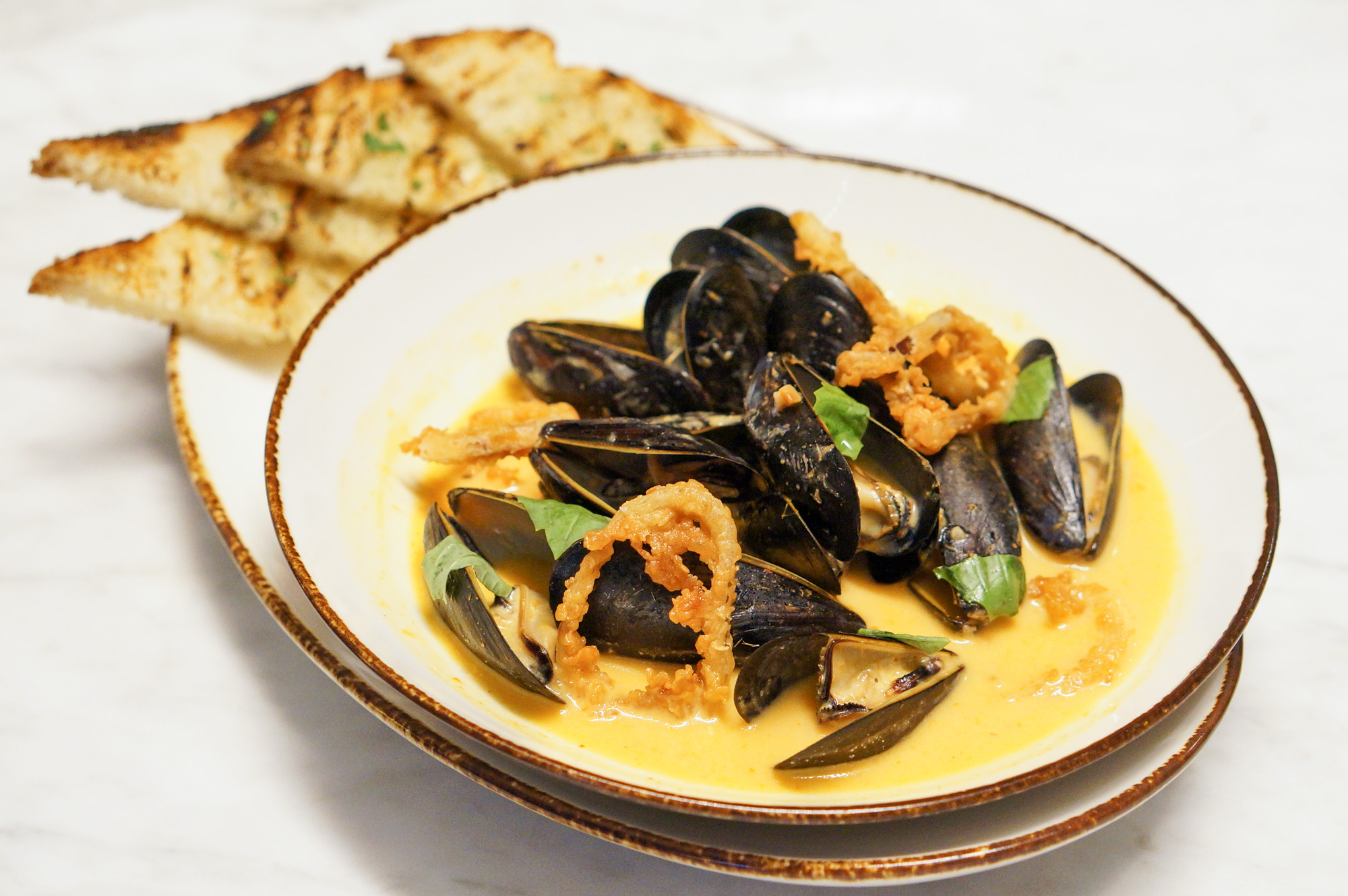 Saltwood Charcuterie & Bar Pan Roasted Mussels